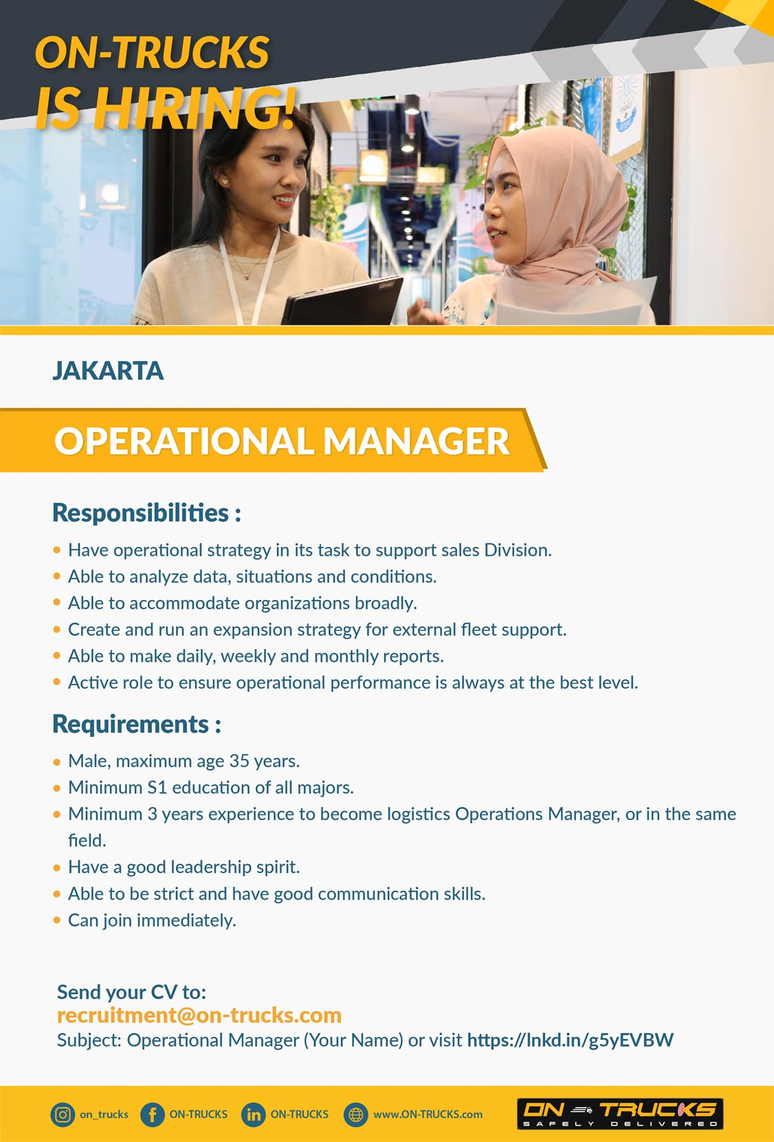 Operational Manager Vacancy